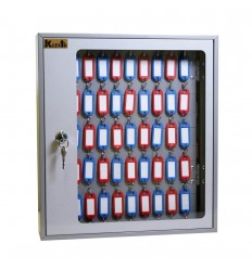 Шкаф для ключей Klesto SKB-102 на 102 ключа, серый, металл/стекл