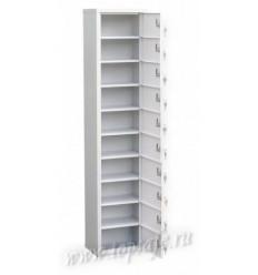 Шкаф-модуль для индивидуального хранения Новатор на 10 ячеек