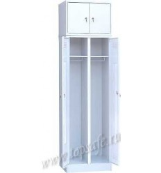 Шкаф для одежды 2-х створчатый с антресолью Rommel